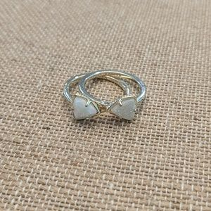Kendra Scott Stackable Ring Size 7 WHITE IRIDESCE